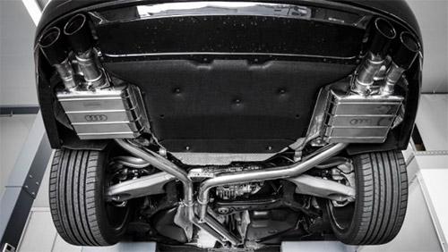 Выхлоп Audi S6 Plus
